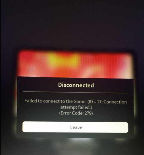 how to fix roblox error code 279
