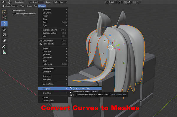 how to convert curves to meshes in roblox