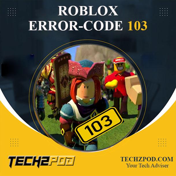 fix roblox error code 103